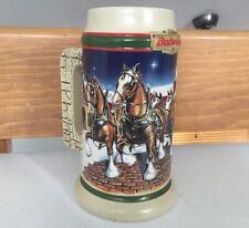 1998 Budweiser Grant's Farm Holiday Stein Mug Vintage Beer