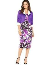 BNWT BERKERTEX PURPLE PRINT DRESS & JACKET SIZE 12 WEDDING MOTHER  BRIDE GROOM