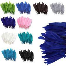 100Pcs Wholesale Beautiful Natural Goose Feathers 4-6'' / 10-15cm DIY Decor Soft