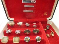 Estate Cuff Links Lot Pins Clips Cufflinks Wear Repair Craft BOX NOT INCLUDED L8