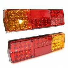 Led Rear Tail Lights Truck Lorry Trailer Tipper Caravan Chassis 12/24v Set Of 2