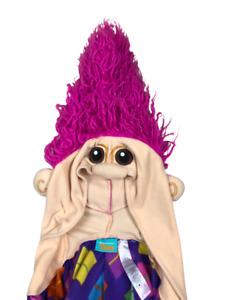Dreamworks Trolls adult Bodysuit Cosplay Costume Size L/XL Argyle Purple Fun