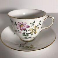 Royal Victoria Fine Bone China Tea Cup & Saucer Floral Design-England