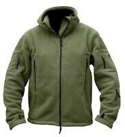 Military Mens Fleece Tad Tactical Jacket Outdoor Sport Hiking Hooded  Coat