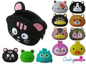 New Girls/Toddler Cute Animal Carton Purse Black Cat Yellow Duck Pink Penguin
