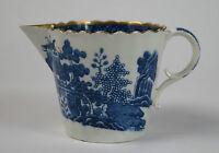 Spode blue and white pearlware 'Mandarin 1' pattern cream jug c1795