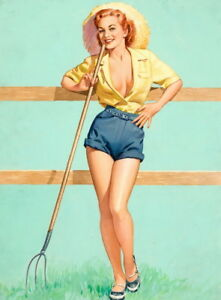 Pearl Frush Pin Up Girls Giclee Art Paper Print Paintings Poster Reproduction