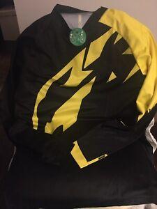 Mavic Mens L/S Bike Cycling Shirt Top Black/Yellow Size M NEW