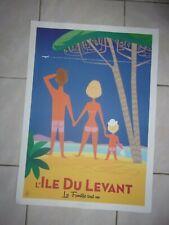 affiche touristique Ile du Levant
