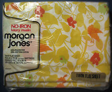Twin Flat Sheet Papillon Design Yellow Vines Butterflies Morgan Jones New in Pkg