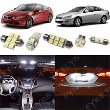 White LED interior map dome lights package kit 2003-2012 Honda Accord +Tool HA1W