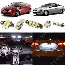 12 White LED interior lights package kit for 2003-2012 Honda Accord +Tool #HA1W