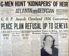 "1935 headline display newspaper w Early use of ""G-MEN"" as a term meaning THE FBI"