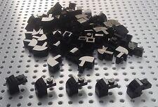 Lego Black 1x2x1.33 Brick with Curved Top (6091) x10 *BRAND NEW* City Star Wars