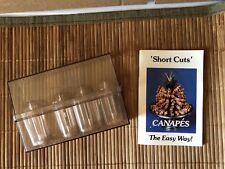 Vintage Short Cuts Canape Maker Set of 4 Shapes Phyllis Gordon