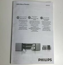Philips MCD735 Micro DVD Home Theater/Stereo Owners Instruction Manual Only