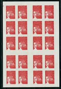 France stamp booklet :1997 Marianne,;20 Self-adhesive stamps CV=$50