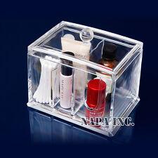 Multi-purpose of Acrylic Cosmetic Organizer Cotton Swabs Stick Case Storage Box