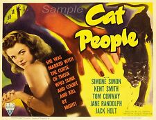 VINTAGE CAT PEOPLE MOVIE POSTER A4 PRINT