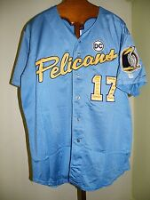 f243632e8a6 2007 MYRTLE BEACH PELICANS GAME USED JERSEY ELVIS ANDRUS