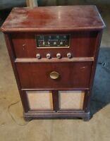 006 Vintage Console Firestone Radio Record Player 4-A-96 Vacuum Tube