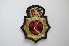 #2866 Gold,Black Crown,Boy Scouts Badge,Fleur-De-Lis Embroidery Sew On Patch