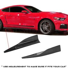 Made for 15-17 Ford Mustang Side Skirt Lip Rocker Splitters Winglet Wind Blades