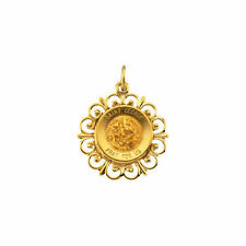 St. George Medal In 14K Yellow Gold