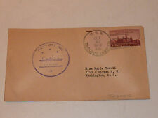taconic USS NAVY DAY 1946 USA enveloppe ancien LETTER smithsonian YOWELL DC navy