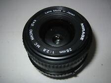 PENTAX PK-A FIT 28mm f2.8 MC MACRO MIRAGE WIDE ANGLE LENS FILM/DIGITAL