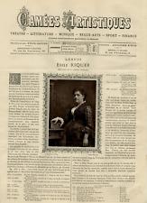 Goupil, France, Camées Artistiques, Edile Riquer vintage print Photoglyptie