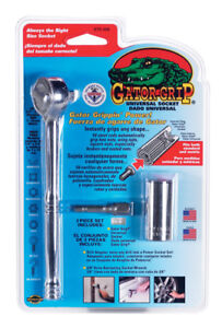 Genuine Gator Grip Universal Socket  Set Wrench  3 Piece Set - Fits Any Shape!
