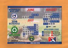 2016 MILB BASEBALL BLUEFIELD BLUE JAYS GAME MAGNETIC POCKET SCHEDULE