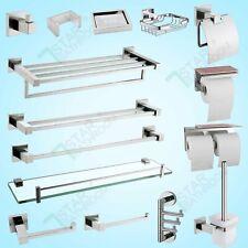 Bathroom Accessories Hand Towel Rail Rack Hook Toilet Brush Paper Holder Chrome