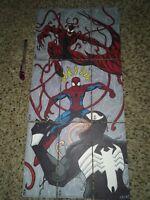 upper deck marvel premier - sketch cards Spider-Man panel Venom Carnage Spidey