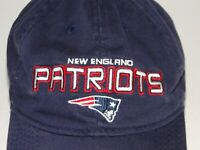 New England Patriots Cap Mens Strapback Dark Blue w/ White Under-brim Cotton Hat