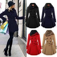 NEW Women's Warm Fur Collar Coat Jacket Thick Parka Overcoat Long Winter Outwear