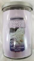 Yankee Candle HONEY LAVENDER GELATO Large 2-Wick Tumbler Jar Purple 22 oz Wax