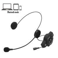Motorcycle Helmet Headset Speakers Mic Bluetooth Handsfree Music Call Control US