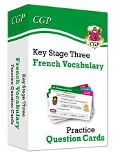 KS3 Years 7-9 French Vocabulary Practice Question Cards CGP