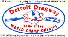 "Detroit Dragway ""World Championships"" Decal"