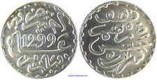 MAROC  HASSAN I°  1/2 DIRHAM ARGENT 1299  PARIS SUPERBE