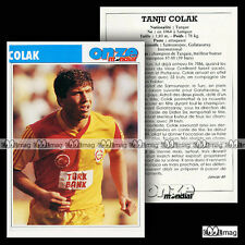 COLAK TANJU (SAMSUNSPOR, GALATASARAY) - Fiche Football 1989