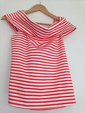 Witchery ❤️ Striped Pop Red Top RRP $$69.95 New L Fits Most Size Though
