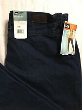 Lee Jeans Size 18 Short Relaxed Fit Comfort Waistband Stretch Tapered Leg NWT