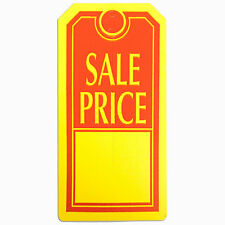 Case of 1000 New or Retail Red on Yellow finish Sale Price tag