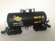 "neu USA TRAINS BEER CAN Tank Car ""Sunoco"" Ganzmetall, auf Wunsch m. LGB Kupplung"