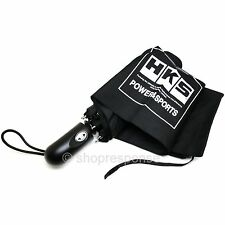 HKS Block Logo Folding Retractable Umbrella w/Pouch Black 51007-AK215 Genuine
