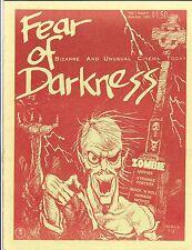 FEAR OF THE DARKNESS # 2 HORROR FANZINE MAGAZINE PAUL NASCHY ZOMBIE LIVING DEAD