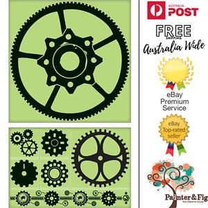 Gears Stamps - Cogs, Industrial, Machinery, Clockwork, Steampunk - Inkadinkado